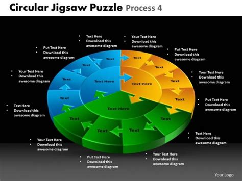 Powerpoint Template Global Circular Jigsaw Puzzle Ppt Slides Jigsaw Ppt