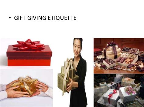gift etiquette ppt of italy