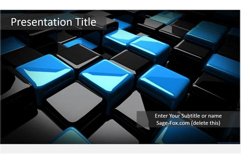 powerpoint templates 3d free cubes 3d powerpoint template 5971 free powerpoint