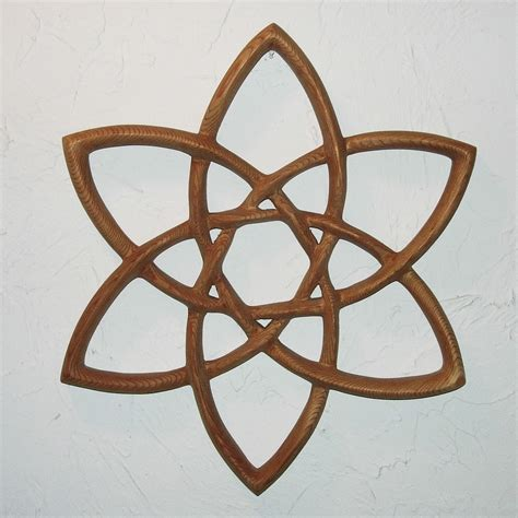 double trinity knot wood carved celtic knot basic triquetra