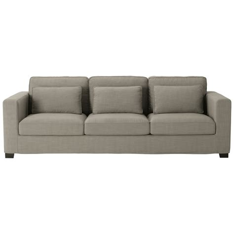 4 seater fabric sofa 4 seater fabric sofa in grey milano maisons du monde