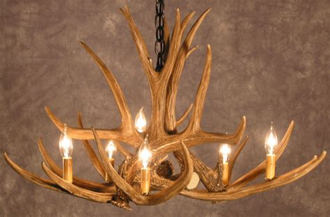 Deer Antler Chandeliers Antler Chandeliers Ca Mule Deer 6 Cast Antler Chandelier Rustic Lighting And Decor From