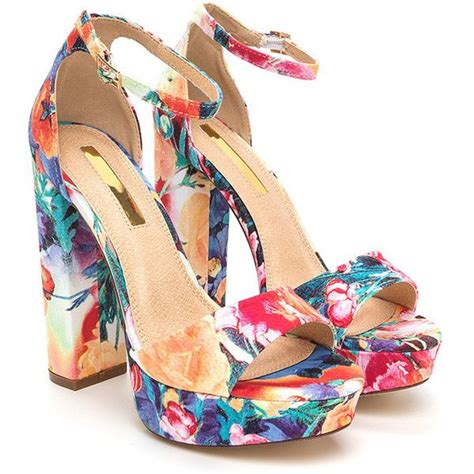 pattern heels polyvore best 25 floral print shoes ideas on pinterest zapatos