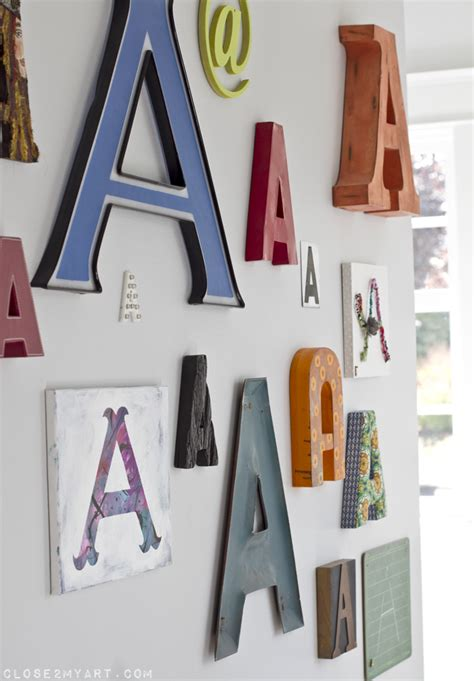 Letter Decorations by Typography Wall Decor Letter A Large Home Is Where The