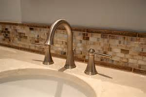 bathroom tile backsplash 30 ideas of using glass mosaic tile for bathroom backsplash