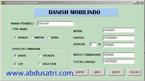 jual tutorial delphi contoh program delphi dengan database access danish f