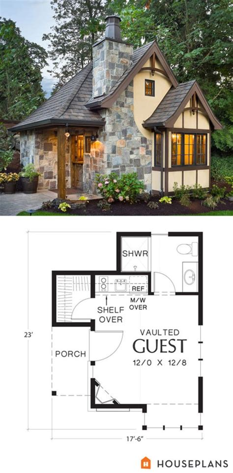storybook cottage house plans tiny house plan and elevation storybook style if i wanted to go with something above 200 sq ft