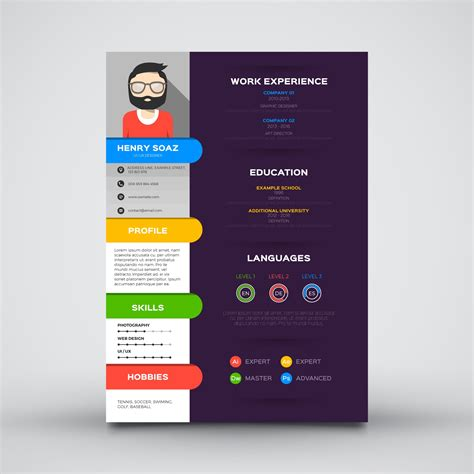 curriculum vitae design software free download template cv keren guru corel