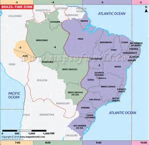 Brazil Time Zone Map by Brazil Time Zone Map Current Local Time In Brazil