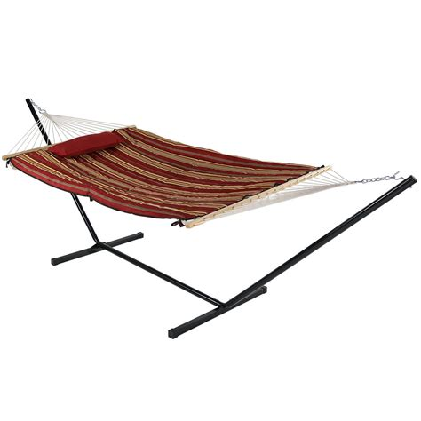 Rope Hammock With Stand Sunnydaze Rope Hammock With Stand Pad Pillow Portable
