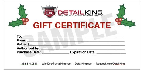 automotive gift certificate template give your customer s a gift for any season auto