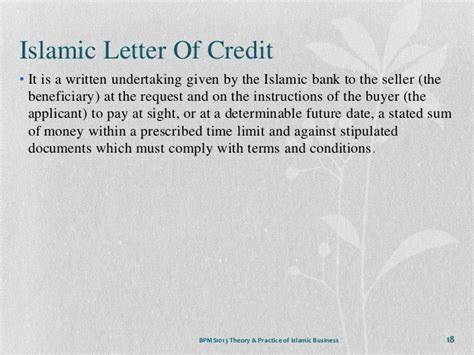 Islamic Credit Letter chapter 6 islamic financial system