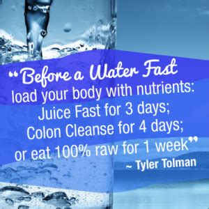 Http Www Tylertolman Health Articles Water Fasting Benefits Detox Cleanse by Extended 10 Day Water Fast Preparation