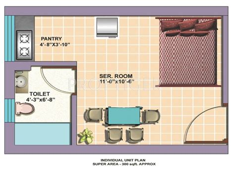 300 sq ft 300 sq ft 1 bhk floor plan image omaxe service personnel