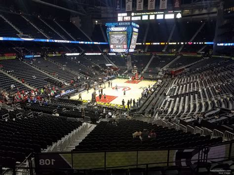 section 202 a 11 philips arena section 202 atlanta hawks rateyourseats com