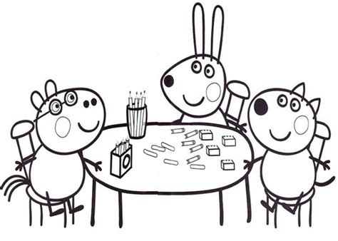 peppa pig mummy coloring pages peppa pig peppa pig friends studying math coloring page