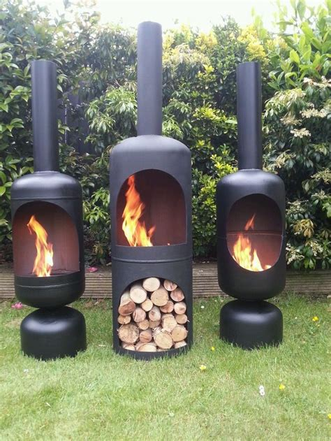 gas bottle wood burner log burner chiminea patio heater