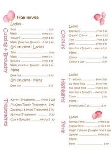 Salon Price List Template Free Pics Photos Free Beauty Salon Price List Templates Kentbaby