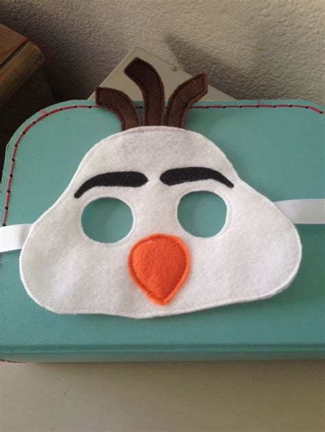 olaf printable mask template 8 best images of olaf printable mask olaf frozen face