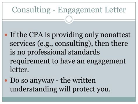 Attestation Engagement Letter Aup Vs Consulting Engagements