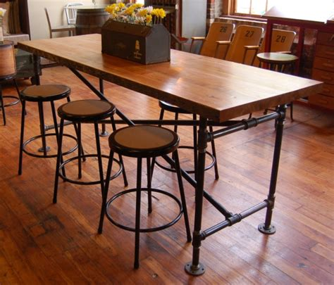 bar height table industrial