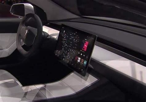 new interior image of tesla model 3 surfaces image gallery tesla interior 3