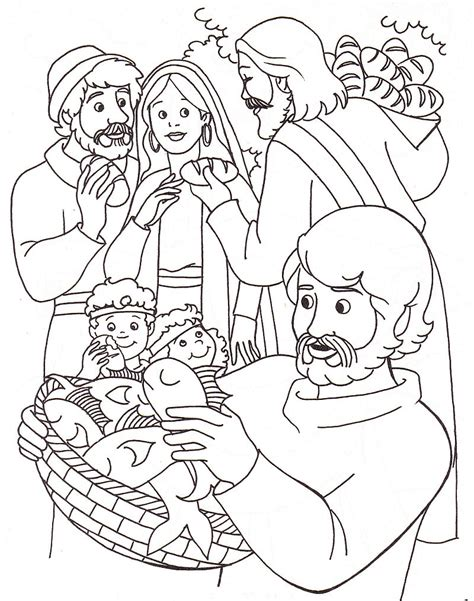 printable coloring pages jesus feeds 5000 free coloring pages of feeding 5000