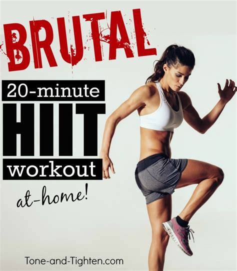 20 minute hiit workout on tone and tighten