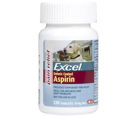 dogs and aspirin excel aspirin for dogs 81mg 120 tabs aches join arthritis coated