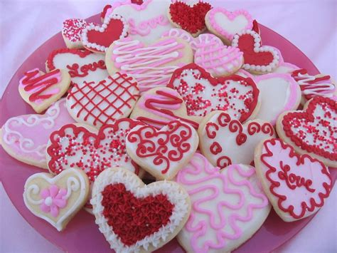 valentines biscuits shaped food for s day