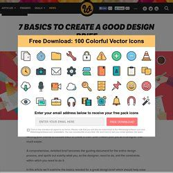 design brief components briefing websites pearltrees