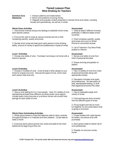 tiered lesson plan template pin tiered lesson plan template on