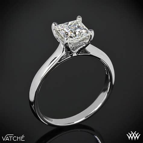 caroline solitaire engagement ring for princess cut