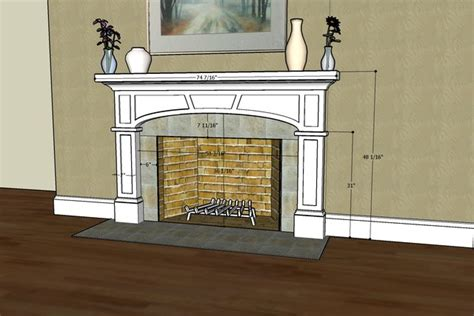 craftsman style fireplace surround with elliptical arch