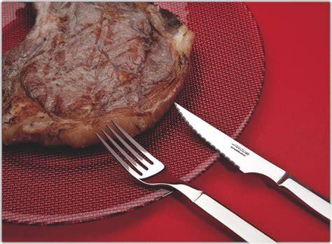 steak knife and fork set arcos 12 forged steak knife and fork set