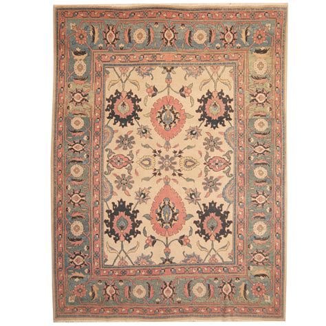 antique wool rugs knotted semi antique 1960s tribal mahal wool rug 9 9 x 13 herat rugs