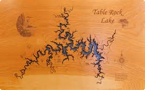 map of table rock lake wood laser cut map of table rock lake mo topographical