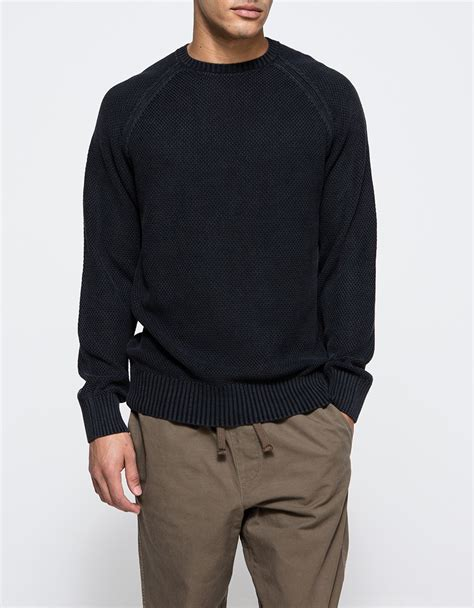 Sweater Obey Lyst Obey Drifter Sweater In Blue For
