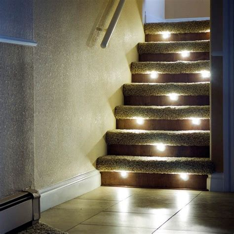 led stair lights outdoor led recessed stair light 4 pack indoor outdoor dekor