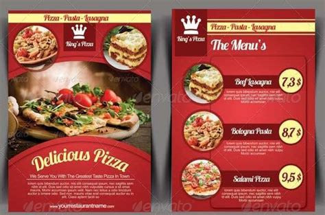 Elegant Pizza Restaurant Flyer Template Menu Pinterest Pizza Restaurant Flyer Template Restaurant Flyer Template