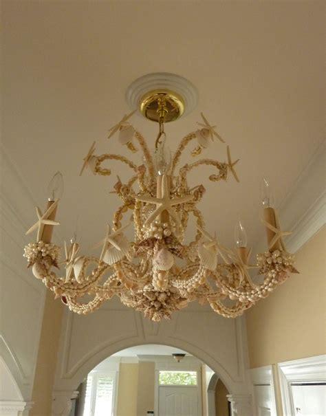 Nautical Themed Lighting Fixture - sarah s seashell chandelier