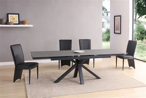 10 chair dining table black grey glass dining table and 10 chairs