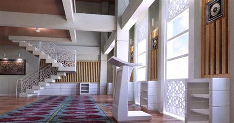 lingkar warna desain interior masjid  makassar