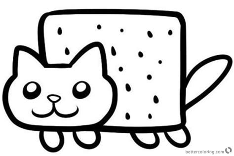 nyan cat coloring pages nyan cat coloring pages simple clipart free printable