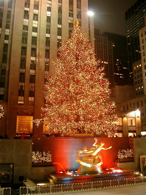 see the rock center tree light up the night travel horizon