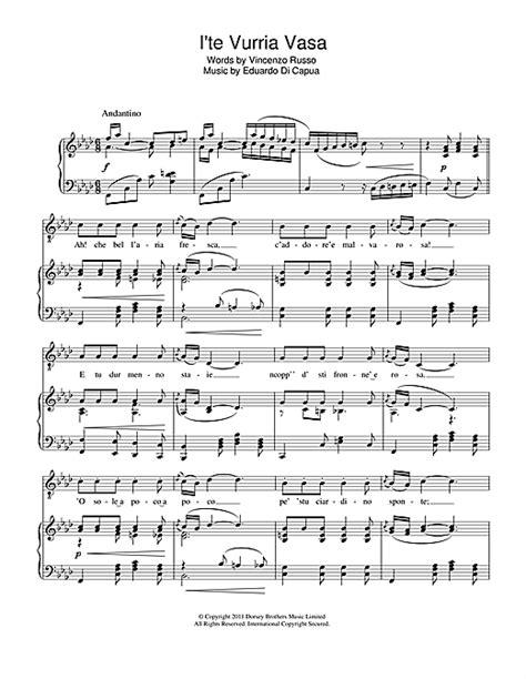 io te vurria vasa i te vurria vasa sheet by andrea bocelli piano