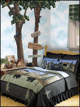 cabin themed bedding 1