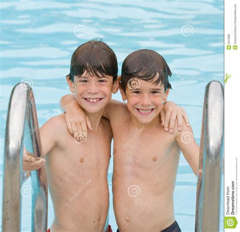 free boys two boys at the pool stock image image of faces