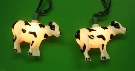 set of 10 farm country cow novelty christmas lights