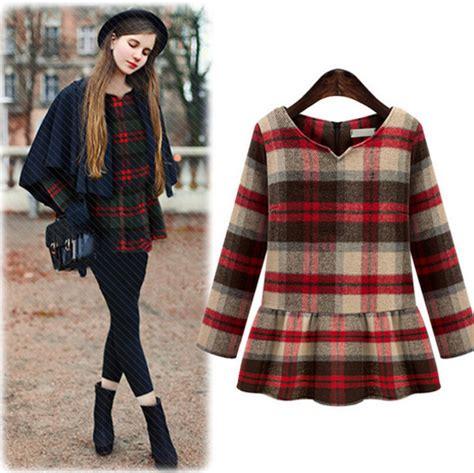 31271 Green Winter Plaid Dress for school autumn